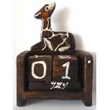 07353.3 Календар с жираф  10 см