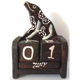 07290.5 Календар с жаба 10 см