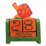07291 Календар с костенурка 10 см