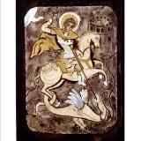 084.1 Ръчно рисувана Икона със Св. Георги 12/16 см