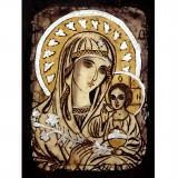 082.1 Ръчно рисувана Икона с Пресвета Богородица 21/31 см