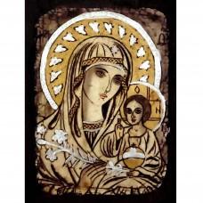 084.14 Ръчно рисувана Икона с Пресвета Богородица 12/16 см