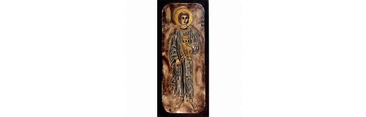 084.18 Ръчно рисувана Икона Св. Стефан 10/21 см