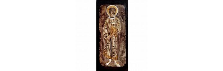 084.19 Ръчно рисувана Икона Св. Стефан 10/21 см