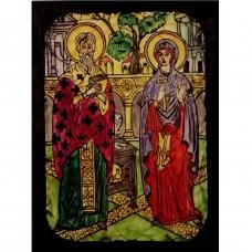 084.4 Ръчно рисувана Икона със Св. Киприан и Юстина 12/16 см