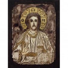 084.9 Ръчно рисувана Икона с Иисус Христос 12/16 см