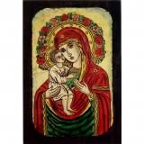 086 Ръчно рисувана Икона с Пресвета Богородица 14/20 см