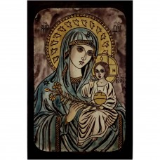 083.1 Ръчно рисувана Икона с Пресвета Богородица 18/28 см