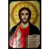 087.2 Ръчно рисувана Икона с Иисус Христос 19/28 см