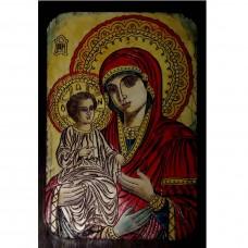 087.7 Ръчно рисувана Икона с Пресвета Богородица 19/28 см