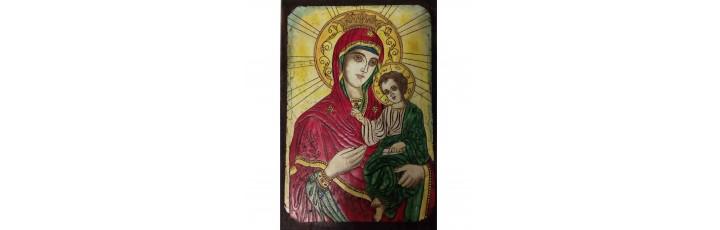 089.2 Ръчно рисувана Икона с Пресвета Богородица 21/31 см