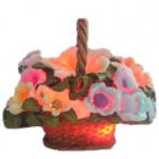 10023 Кошница с цветя светеща 15 см