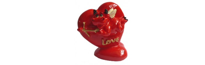 10038 Купидонче в сърце 7 см