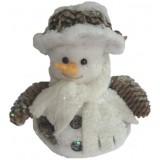 11016 Снежен човек с шишарки 25 см