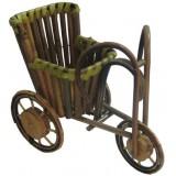 14057 Бамбукова количка за саксия с цвете 12 см