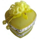 14111 Бижутерка сърце жълта 8 см