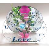 14320.1 Ваза Love стъклена 15см