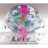 14320.2 Ваза Love стъклена 15см