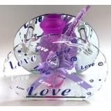 14320.4 Ваза Love стъклена 15см