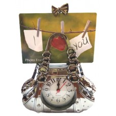 14340 Чанта с часовник и рамка за снимка 22 см