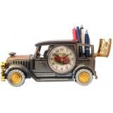 14341 Кола с часовник моливник 25см