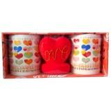10073.3 Двойка чаши със сърце. Чаша - Н 10 см / Ф 8 см