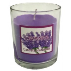 14387.3 Ароматна свещ  в чаша Лавандула 8 см