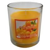 14387.4 Ароматна свещ  в чаша Портокал 8 см
