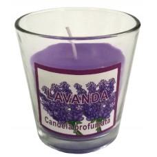 14388.4 Ароматна свещ Лавандула в чаша 7 см