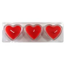 14392 Комплект свещи сърце 3 бр. 20/6 см