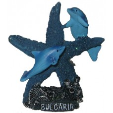 15024 Делфини с морска звезда 7 см