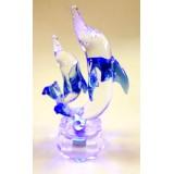 15034 Делфини стъклени 11см