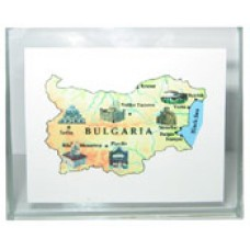 15038 Плочка карта на България 4/5.5 см