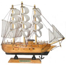 15089 Кораб дървен 48см