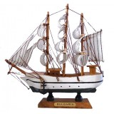 15088 Кораб дървен 18см