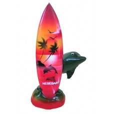 15144 Делфин със сърф Несебър 12 см