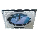 15169 Часовник стъклен Албена 16/13см