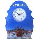 15178 Часовник полирезин Несебър 15см