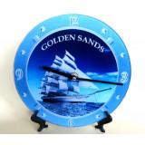 15200 Часовник стъклен Златни Пясъци 20см