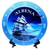 15201 Часовник стъклен Албена 20см