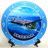 15203 Часовник стъклен Несебър 20см