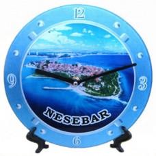 15184 Часовник стъклен Несебър 20см