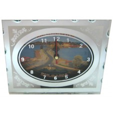 15253 Часовник стъклен Несебър 13/16см