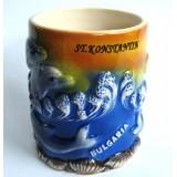 15257 Чаша керамична Свети Константин 10см