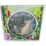 15259 Часовник стъклен Албена 20см