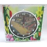 15262 Часовник стъклен Слънчев Бряг 20см