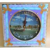 15263 Часовник стъклен Равда 20см