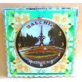 15265 Часовник стъклен Балчик 20см