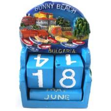 15307 Календар полирезин Слънчев Бряг 10см