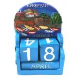 15311 Календар полирезин Несебър 10см